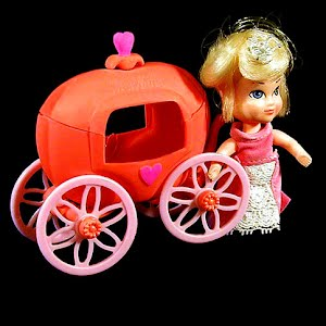 Vintage 1967 Storykins Cinderella Character Doll with Pumpkin Carriage