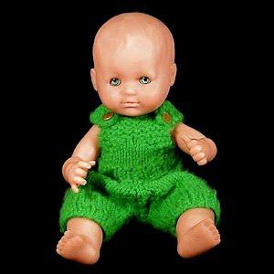 Vintage 1980 Baby Boy soft rubber Doll