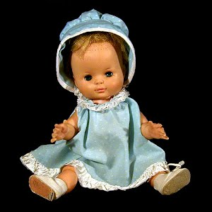 Vintage 1960 Mechanical Character Baby Doll