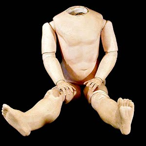 Antique German Composition Ball-jointed 21 inch doll body