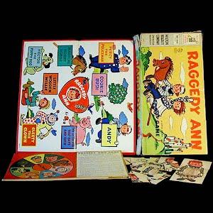 Vintage 1954 Raggedy Ann Board Game