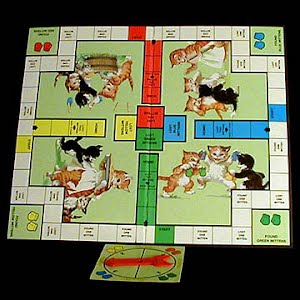 Vintage 1954 Three Little Kittens Board Game Board
