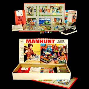 Vintage Manhunt Board Game