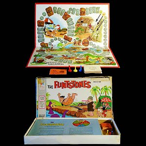 Vintage The Flintstones Messed Up Vacation Board Game