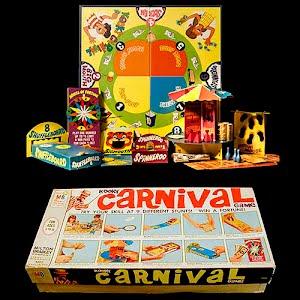 Vintage Carnival Board Game