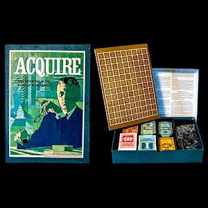 Vintage Acquire Board Game, A 3M Bookcase Game