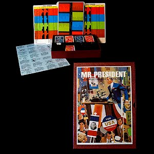 Vintage Mr President Board Game, A 3M Bookcase game