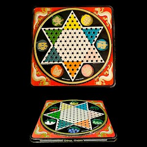 Vintage Chinese Checkers Metal Board Game
