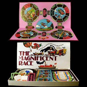 Vintage The Magnificent Race Board Game