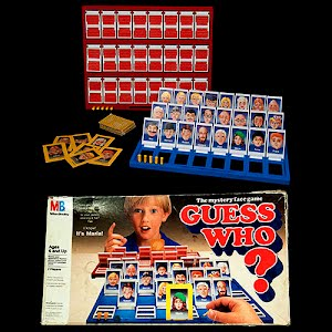 Vintage Guess Who Table Game