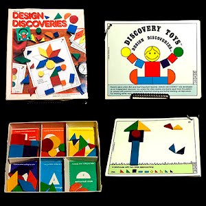 Vintage Wooden Discovery Block Design Game