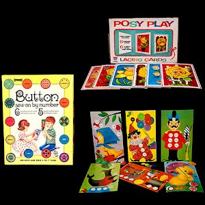 Vintage Buttons and Posy Play Sewing Cards