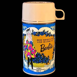 vintage World of Barbie thermos
