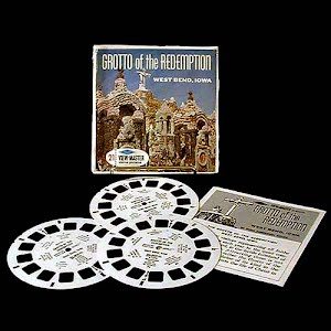 Grotto of the Redemption West Bend Iowa Blisterpack view master reels