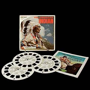 The American Indian Blisterpack view master reels