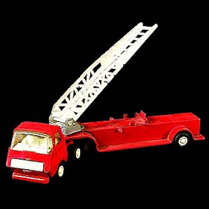 Tonka Red Fire Engine Ladder truck metal toy