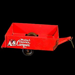 Buddy L Teepee Camper Trailer metal toy