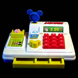 Vintage Mickey Mouse Cash Register Toy