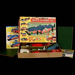Vintage 1962 Build A home Set number 15  building toy