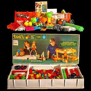 Vintage 1967 Toc'l Building Set 500 Mattel Toy