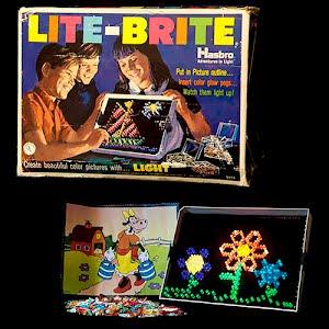 Vintage 1968 Lite Brite Hasbro toy