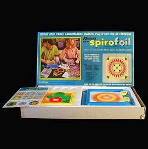 Vintage 1970 Spirofoil number 7900 Kenner Toy
