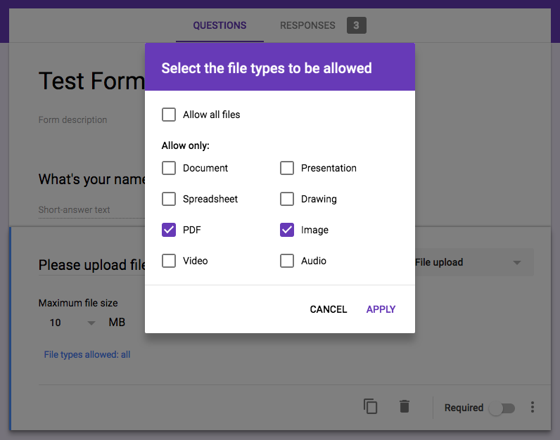 how to upload pdf file in google