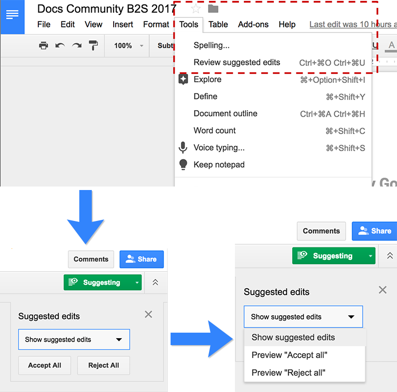 how to see history in google docs
