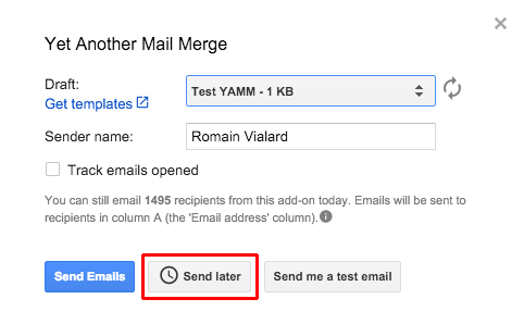 how to send scheduled email