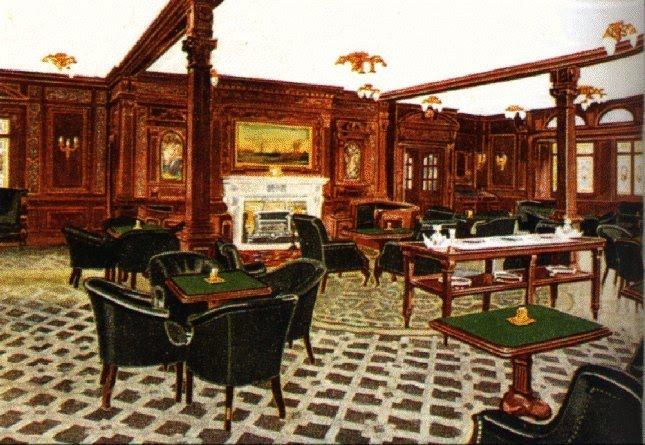 Titanic Smoking Room Painting
