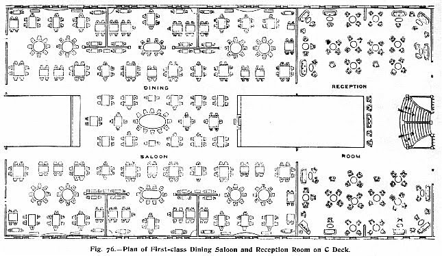 Plan Of First Class Dining Saloon Part 76