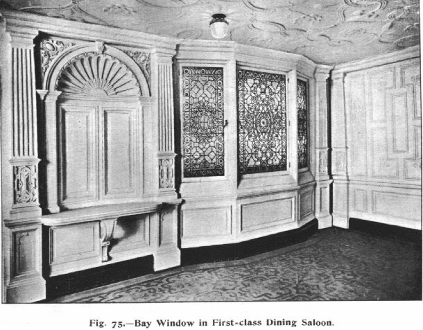 Windows In First Class Dining Saloon