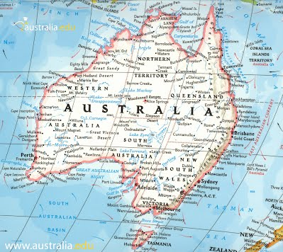 Australia Map With Latitude And Longitude.General Info Australia