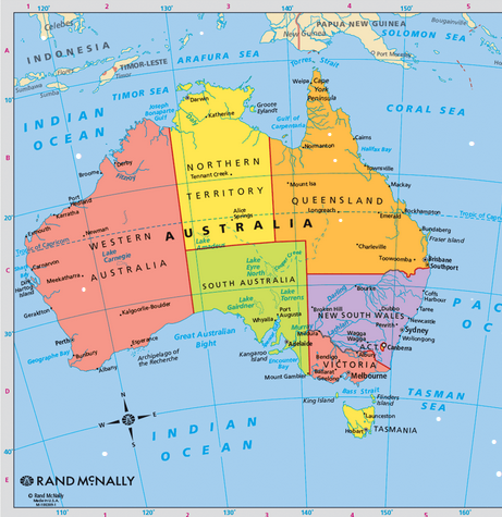 Australia Map With Latitude And Longitude | Ilmigliorerobotdacucina