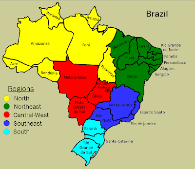 Political Map Of Brazil Brazil