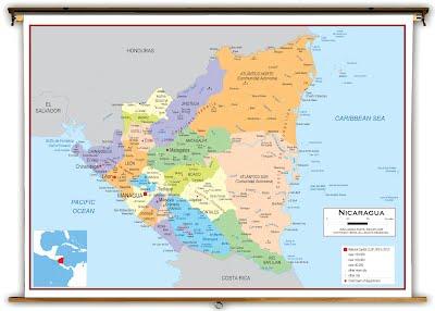 Nicaragua - Nicaragua location on world map
