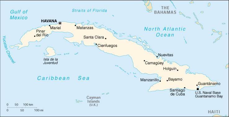 Cuba - Political map of cuba