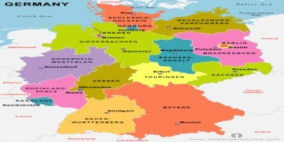 a physical map of germany that helps separate the physical regions of germany