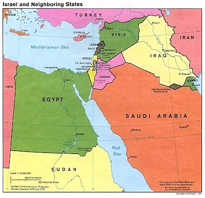 Map Of Egypt And Israel Maps & General Info   Israel