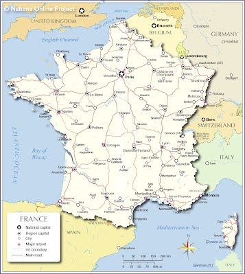Regional Map Of France In English.Maps France