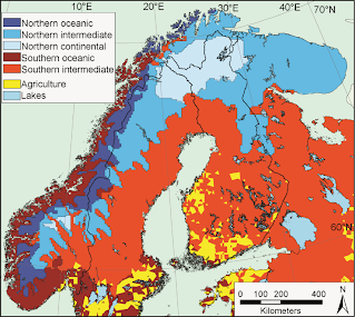 Rural Land Use Norway - Norway lakes map