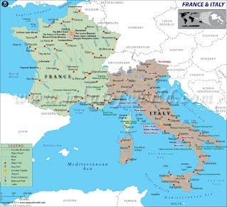 geographical map of italy Maps   France