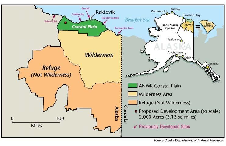Anwr Alaska Map.Arctic Tundra Anwr