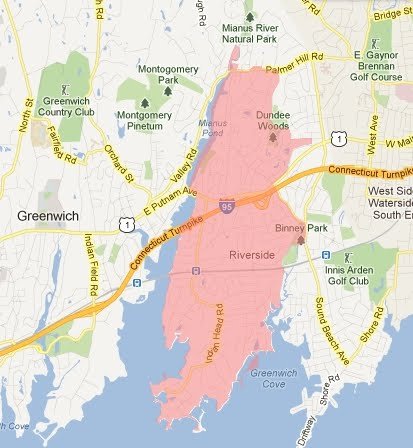 Greenwich Ct Map Map   The Riverside Association of Greenwich, CT Greenwich Ct Map