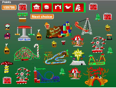 Christmas Theme Park management simulation