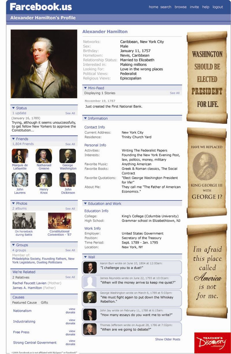 farcebook mr freeman 39 s history site