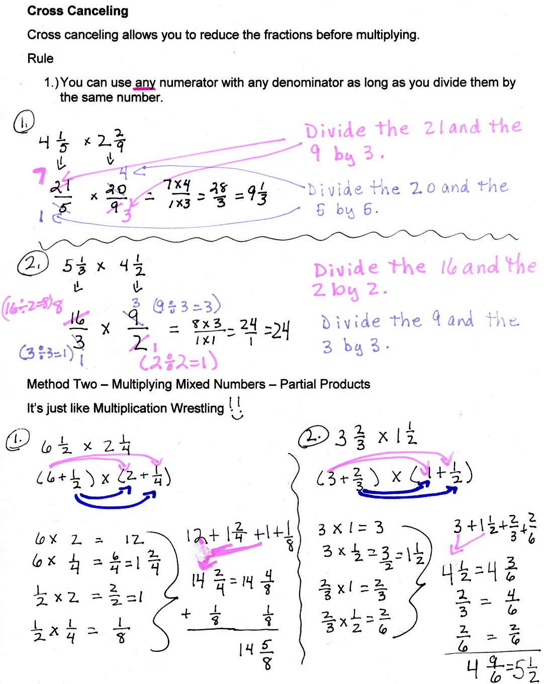 Dividing Fractions And Mixed Numbers Method One Unit 8: Fractions And  Ratios Mrs Morelli How