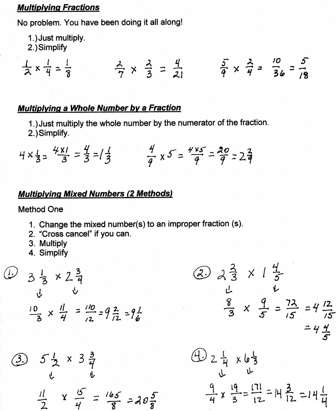 Workbooks mixed number and improper fraction worksheets : Unit 8: Fractions and Ratios - Mrs. Morelli