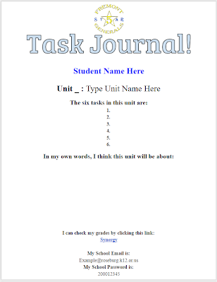 6th grade pre unit task 6 technology