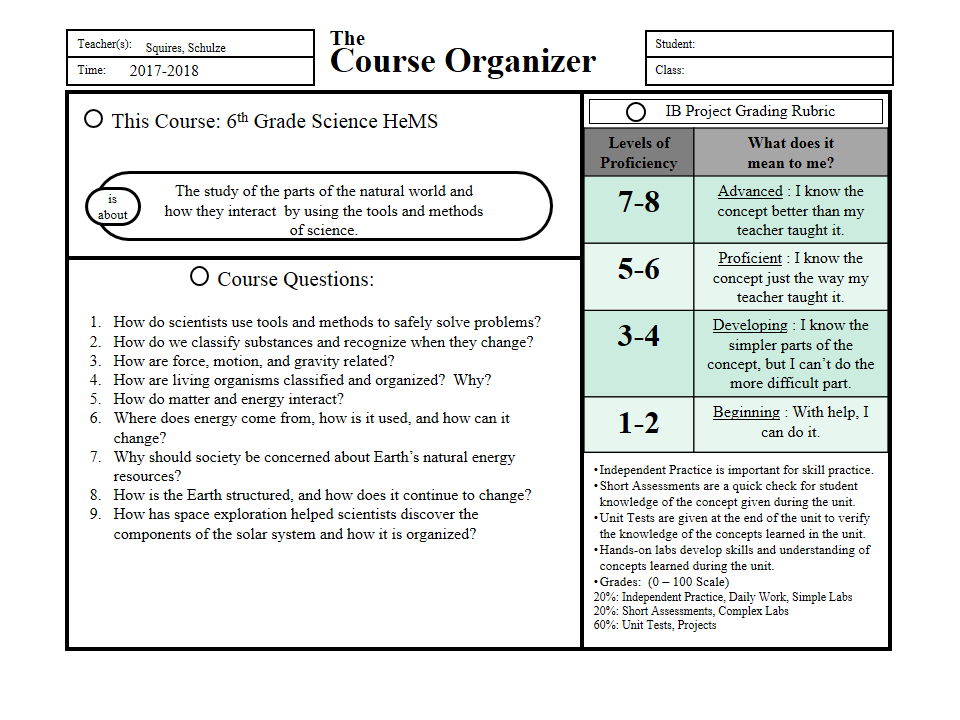 Mrs. Squires\' 6th Grade Science Website